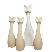 Conjunto de Gatos Cerâmica - Linha Premium