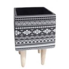 Cachepot Cerâmica Quadrado com Base - TAM M - Linha Premium