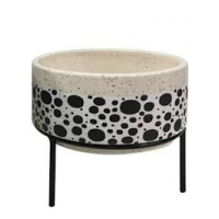 Cachepot Cerâmica Bolinha com Base - Tam M - Linha Premium