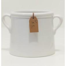 """Vaso Decorativo Cerâmica """"For you"""" - 10 cm"""