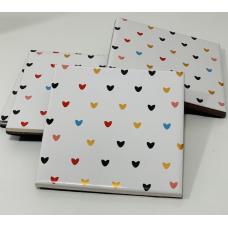 Kit com 4 Porta Copo - Linha Coração