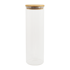 Pote Hermético Vidro e Tampa de Bambu 2000 ml