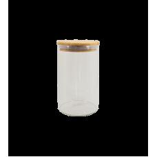 Pote Hermético Vidro e Tampa de Bambu 1100 ml